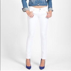 ❗️Paige Skinny Ivory Jeans MSRP $198!